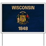 Wisconsin Flag Yard Sign