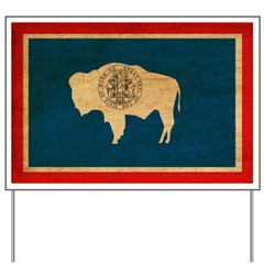 Wyoming Flag Yard Sign