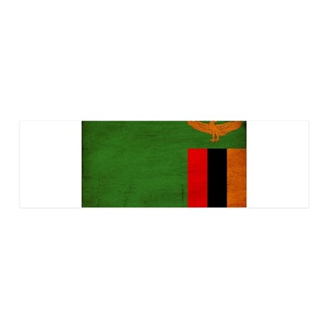 Zambia Flag 42x14 Wall Peel