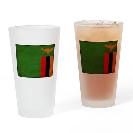 Zambia Flag Drinking Glass