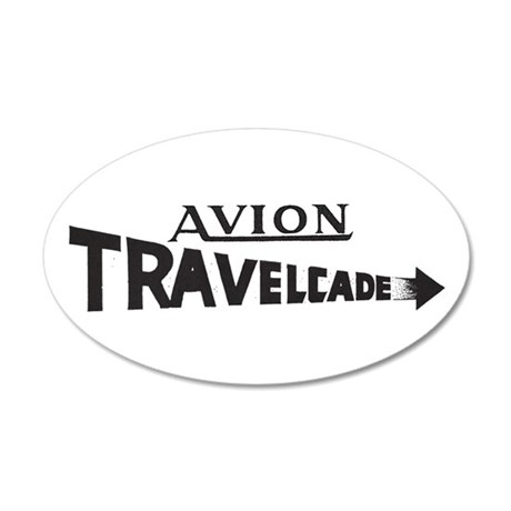 Early Travelcade Logo 22x14 Oval Wall Peel