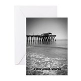 Tybee Island Pier & Pavilion Greeting Cards (Pk of