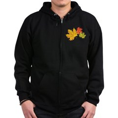 Three Leaves Zip Hoodie (dark)