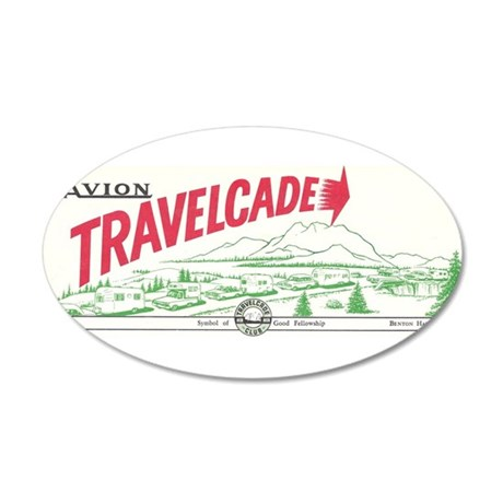 Avion Travelcade Club Mounta 22x14 Oval Wall Peel