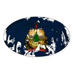 Vermont Flag Sticker (Oval 50 pk)