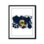 Vermont Flag Framed Panel Print
