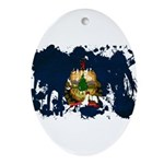 Vermont Flag Ornament (Oval)