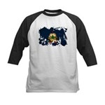 Vermont Flag Kids Baseball Jersey
