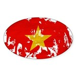 Vietnam Flag Sticker (Oval 50 pk)