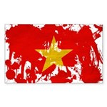 Vietnam Flag Sticker (Rectangle)
