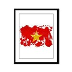 Vietnam Flag Framed Panel Print