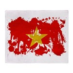 Vietnam Flag Throw Blanket