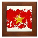 Vietnam Flag Framed Tile