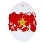 Vietnam Flag Ornament (Oval)