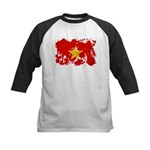 Vietnam Flag Kids Baseball Jersey