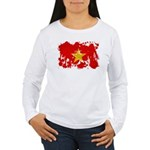 Vietnam Flag Women's Long Sleeve T-Shirt