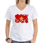 Vietnam Flag Women's V-Neck T-Shirt