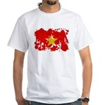Vietnam Flag White T-Shirt