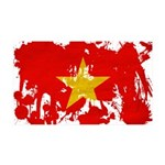Vietnam Flag 38.5 x 24.5 Wall Peel