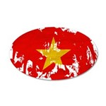 Vietnam Flag 38.5 x 24.5 Oval Wall Peel
