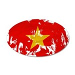 Vietnam Flag 22x14 Oval Wall Peel