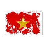 Vietnam Flag Car Magnet 20 x 12