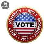 "Vote Mitt Romney for president 2012 3.5"" Button (1"