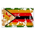 Zimbabwe Flag Sticker (Rectangle 10 pk)