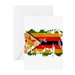 Zimbabwe Flag Greeting Cards (Pk of 10)