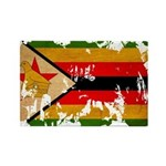 Zimbabwe Flag Rectangle Magnet (10 pack)