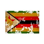 Zimbabwe Flag Rectangle Magnet
