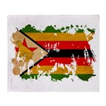 Zimbabwe Flag Throw Blanket