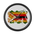 Zimbabwe Flag Large Wall Clock