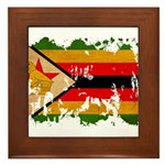 Zimbabwe Flag Framed Tile