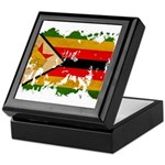 Zimbabwe Flag Keepsake Box
