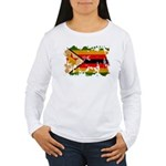 Zimbabwe Flag Women's Long Sleeve T-Shirt