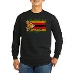 Zimbabwe Flag Long Sleeve Dark T-Shirt