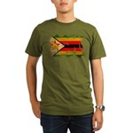 Zimbabwe Flag Organic Men's T-Shirt (dark)