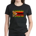 Zimbabwe Flag Women's Dark T-Shirt
