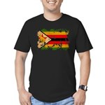 Zimbabwe Flag Men's Fitted T-Shirt (dark)