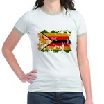 Zimbabwe Flag Jr. Ringer T-Shirt