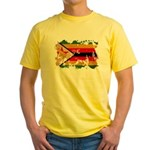 Zimbabwe Flag Yellow T-Shirt