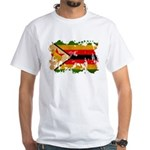Zimbabwe Flag White T-Shirt