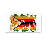 Zimbabwe Flag Aluminum License Plate