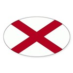 Alabama Flag Sticker (Oval 10 pk)