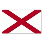 Alabama Flag Sticker (Rectangle)