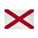 Alabama Flag Rectangle Magnet (100 pack)