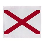 Alabama Flag Throw Blanket