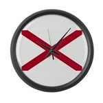 Alabama Flag Large Wall Clock