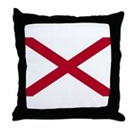 Alabama Flag Throw Pillow
